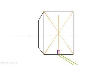 Drawing 1pt. Perspective Building: Step 4