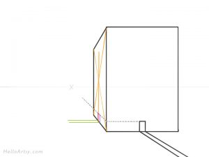Drawing 1pt. Perspective Building: Step 5
