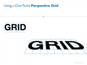 Sample One Point Perspective Grid