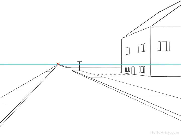 how to draw vanishing point