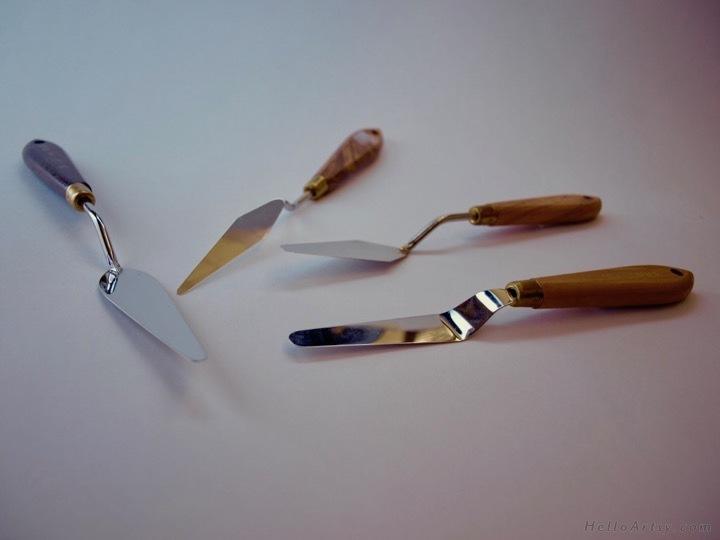 palette knife shapes