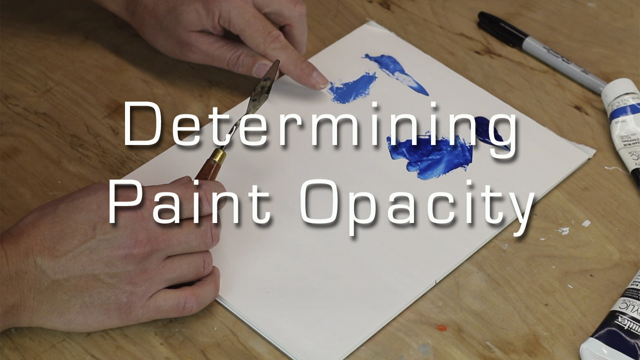 determining you paint's opacity