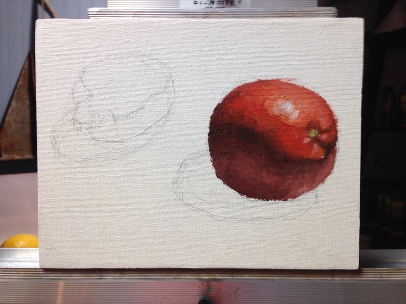 citrus painting step 1
