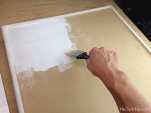 DIY Glass Paint Palette-gesso
