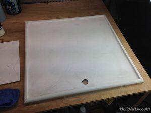 DIY Glass Paint Palette-gesso complete