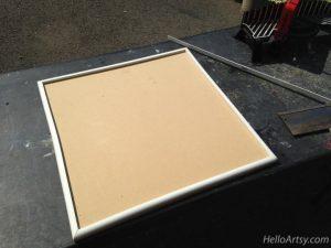 DIY Glass Paint Palette-molding cradles