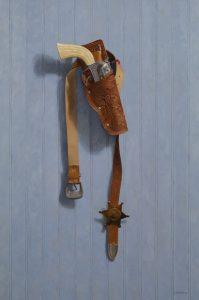 """Toy Texas Ranger"" oil painting by John Morfis"