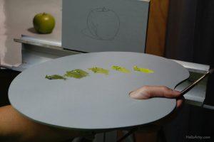green apple palette
