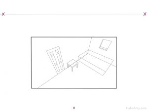 Room in 3 Point Perspective - step-5
