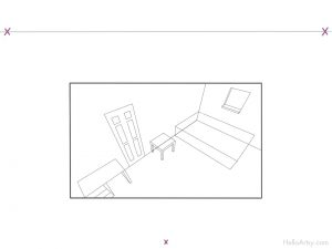 Room in 3 Point Perspective - step-6