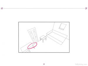 Room in 3 Point Perspective - step-6-highlight