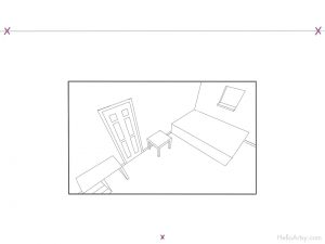 Room in 3 Point Perspective - step-7