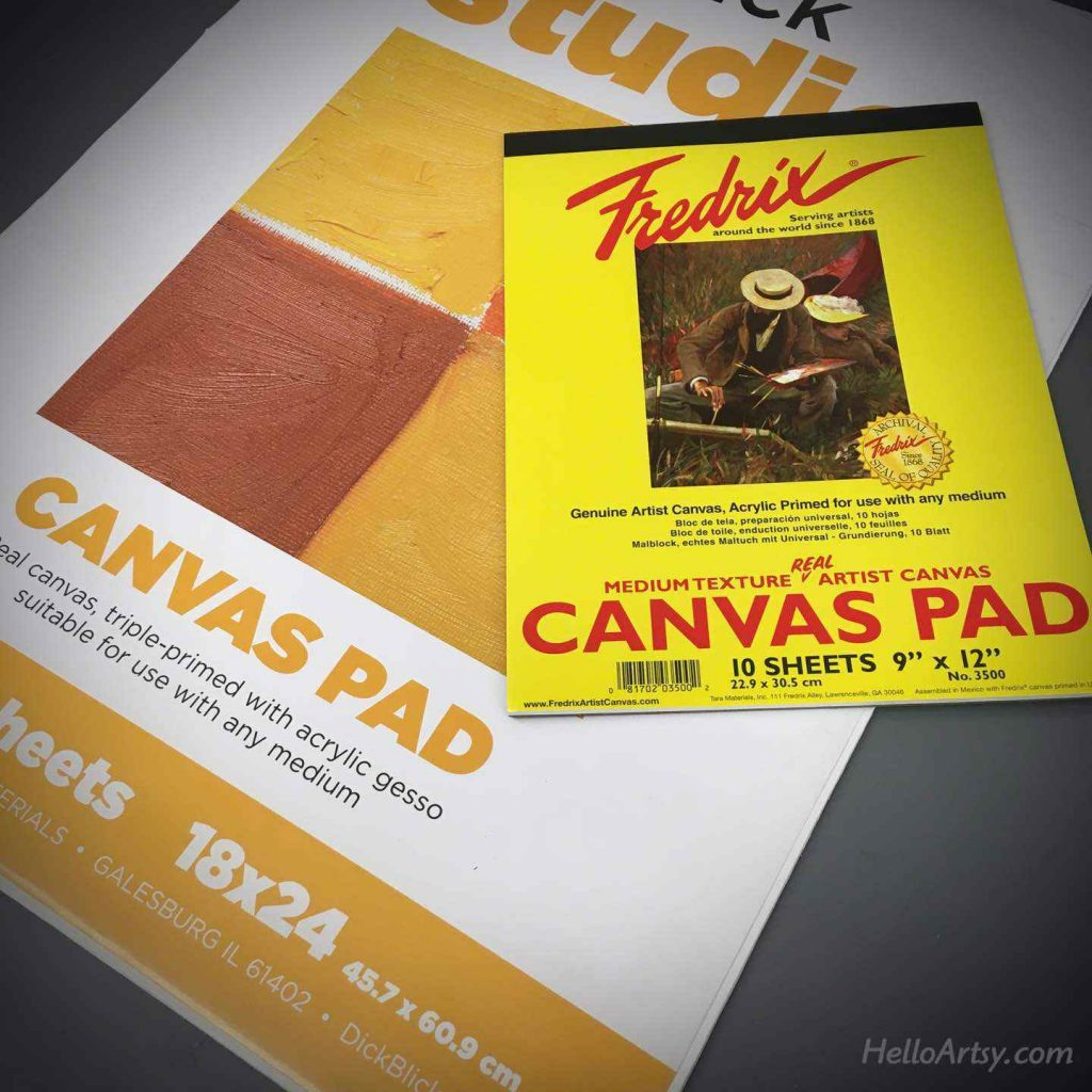 canvas pads for oil painting practice