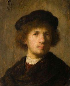 Rembrandt Self-Portrait 1630: Oil on Copper