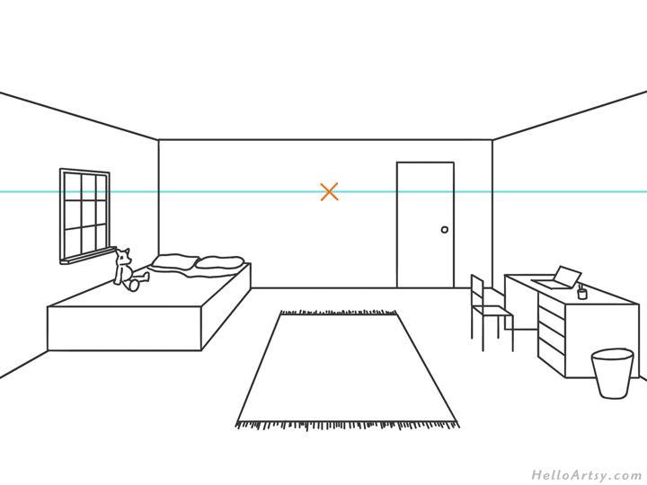 One Point Perspective Drawing Step By Step Guide For