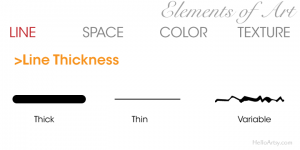 Elements of Art: Line - Thickness