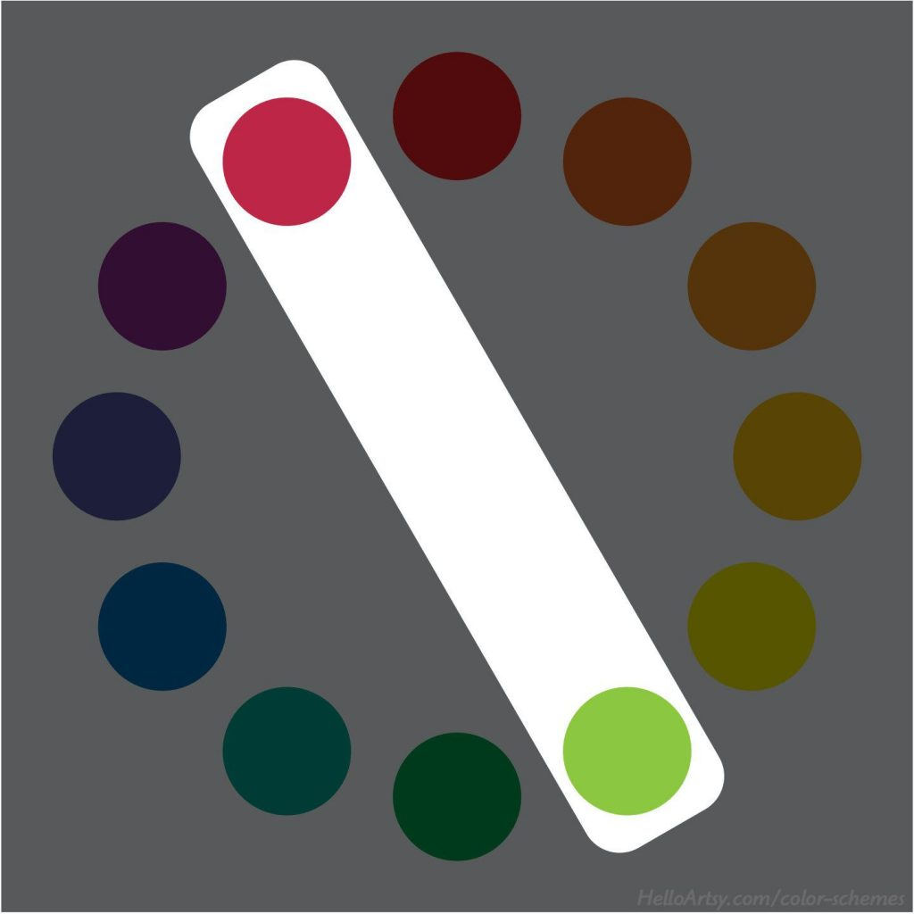 Complementary Color Scheme (red-purple   yellow-green)