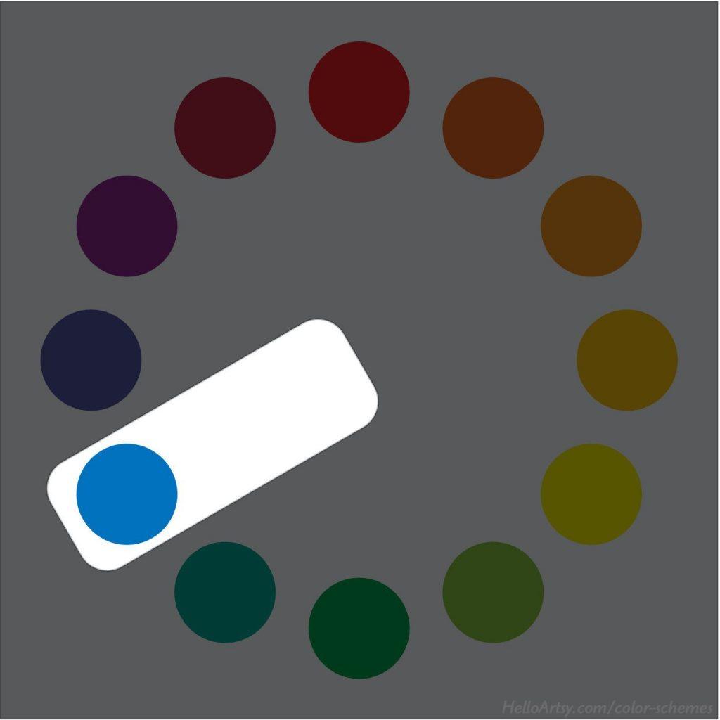 Monochromatic (blue) color scheme