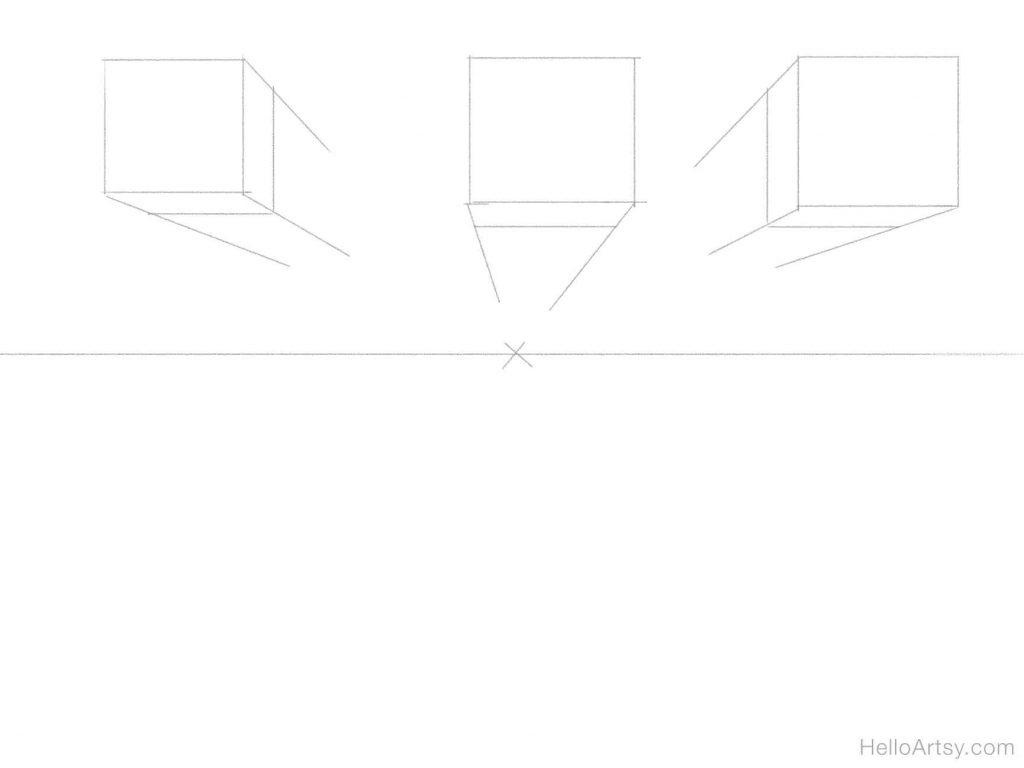 3 boxes sketch