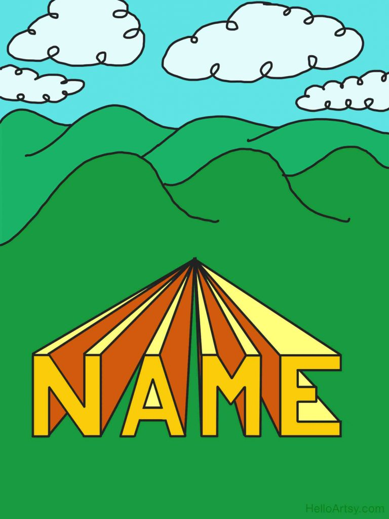 3D Name with Background