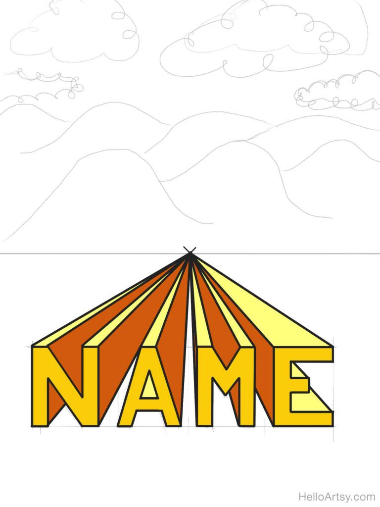 3D Name with Colors