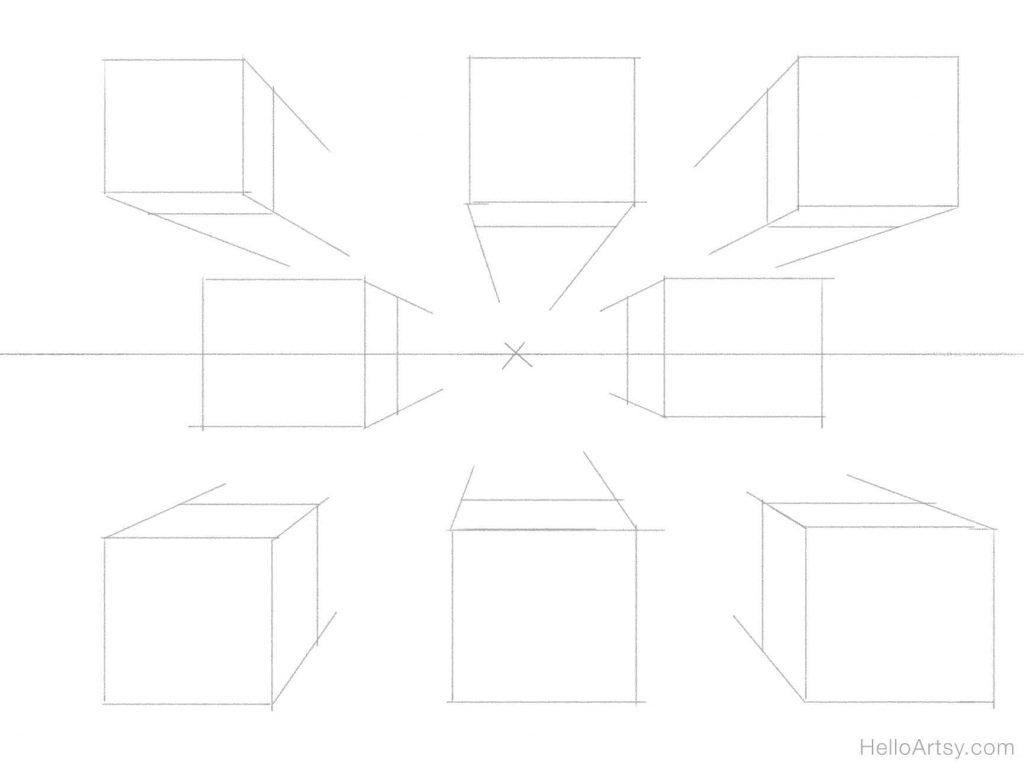 8 boxes sketch