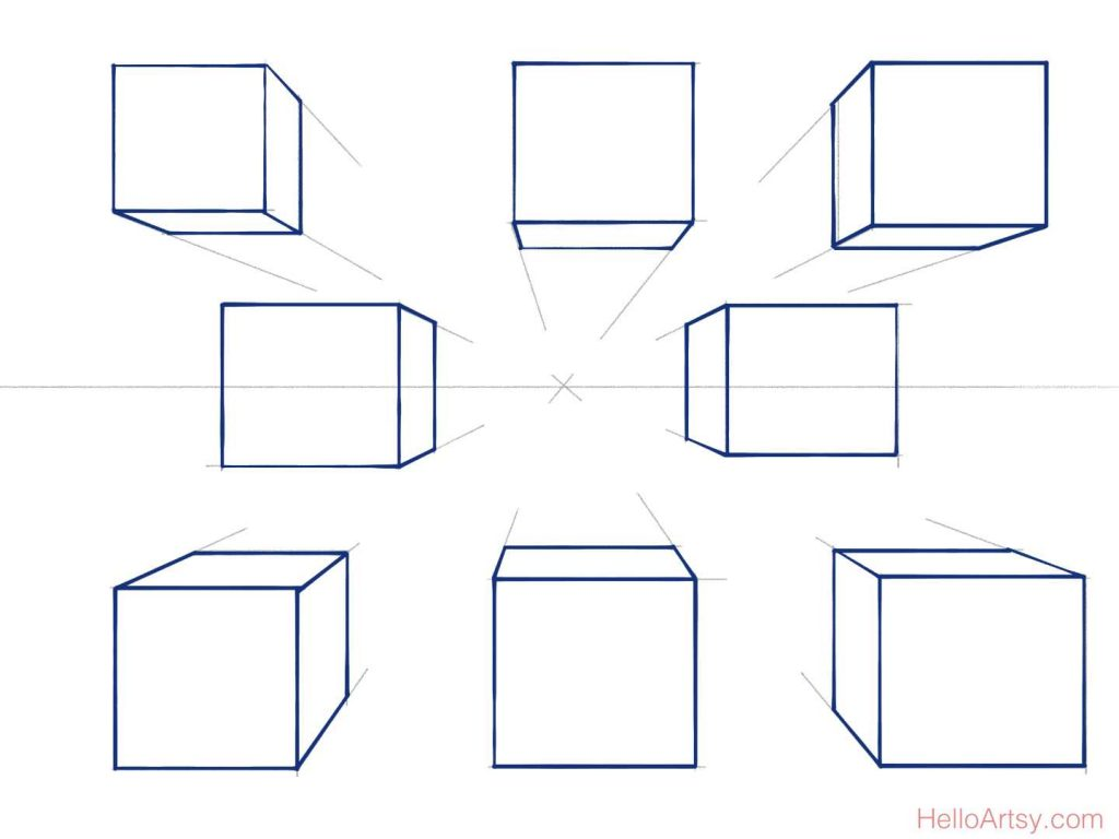 8 boxes sketched + inked
