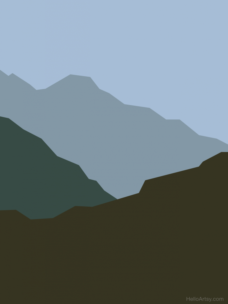 Atmospheric Perspective Mountains Posterized