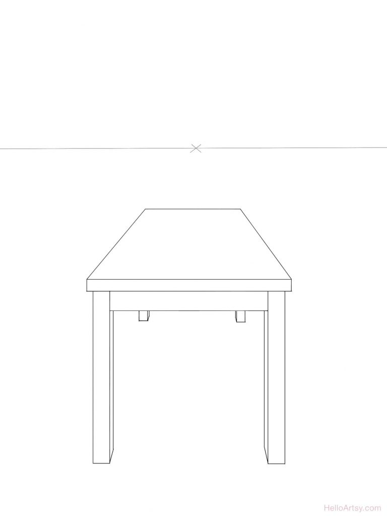 One Point Perspective Table