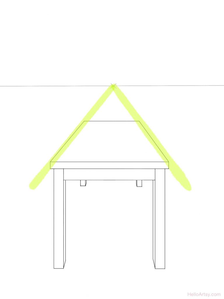 One Point Perspective Table: Highlighted
