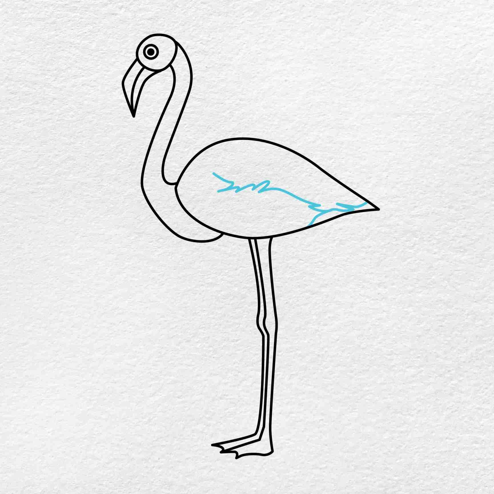 Flamingo Drawing: Step 5