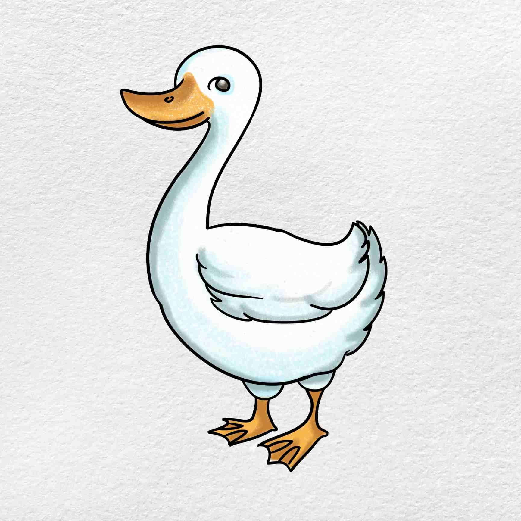 Goose Drawing: Step 9