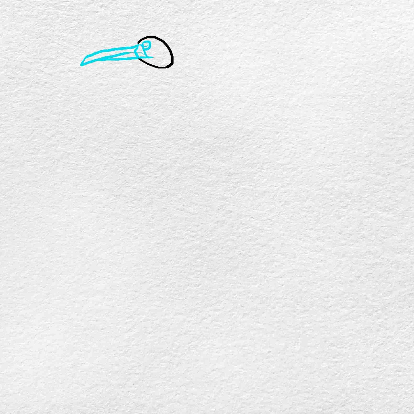 How To Draw A Crane: Step 2