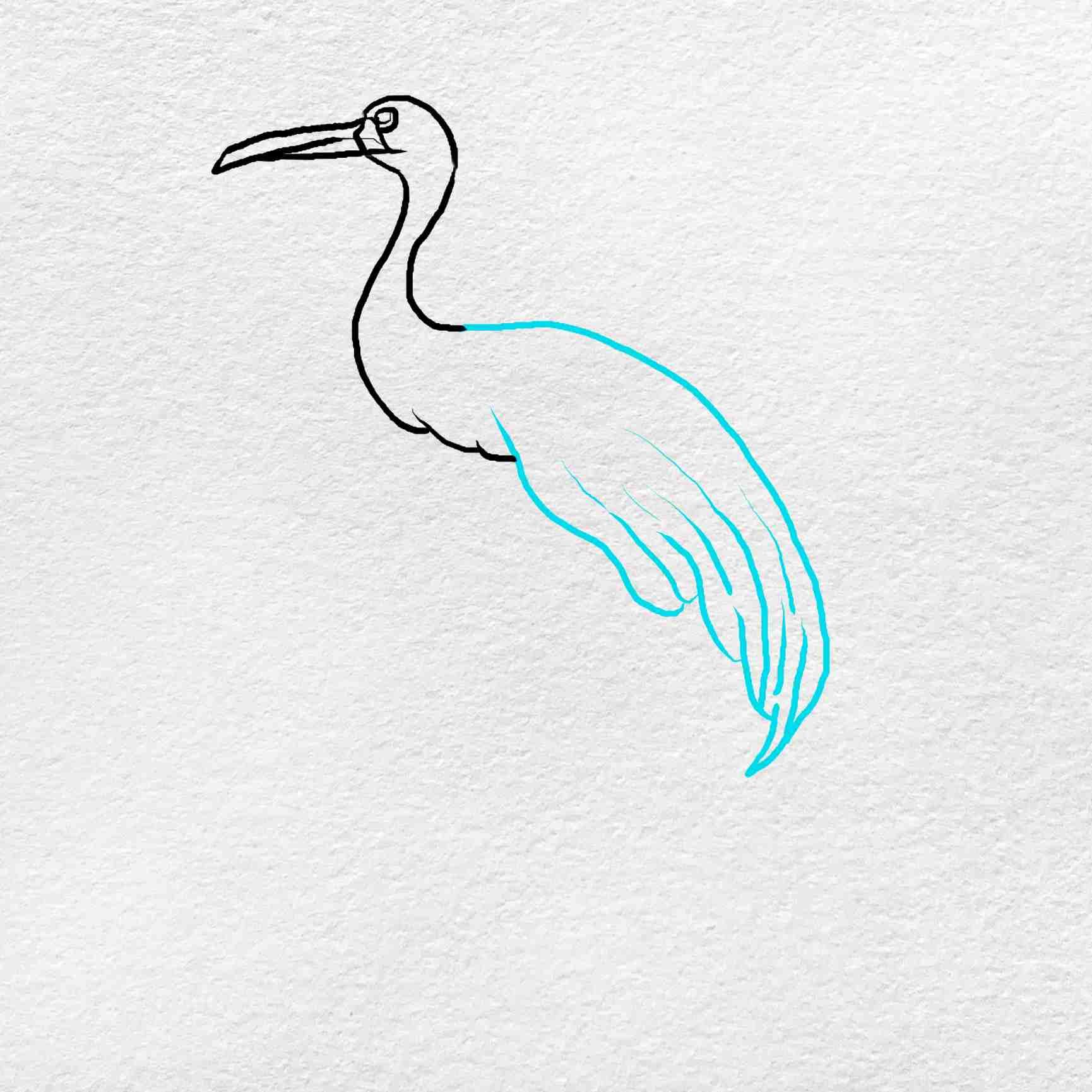How To Draw A Crane: Step 4