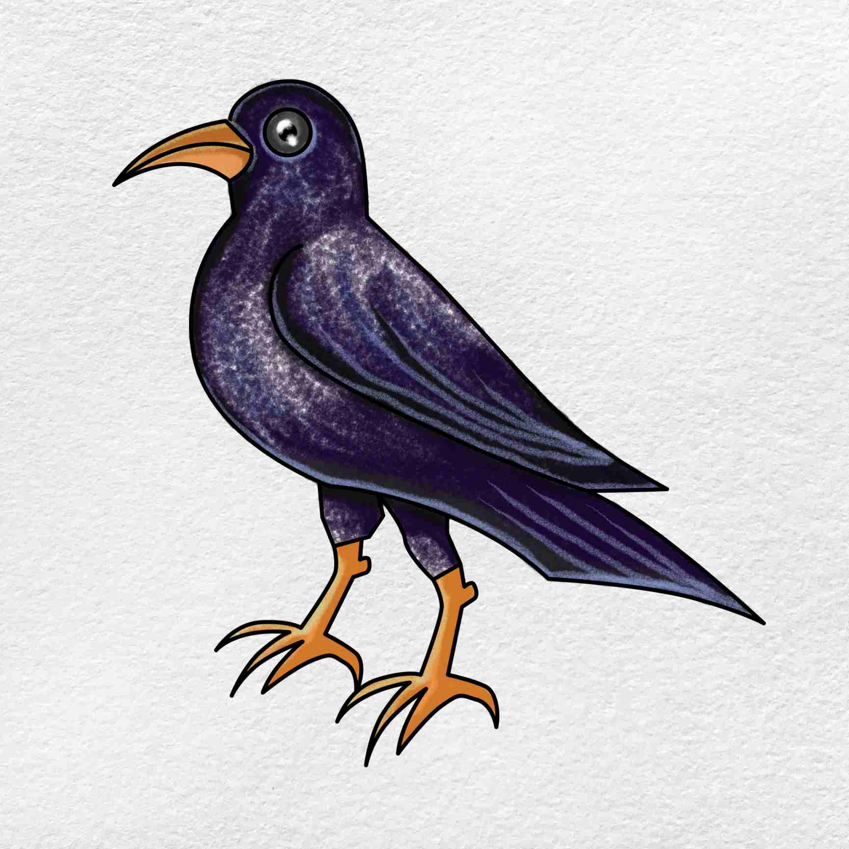 How To Draw A Crow: Step 6