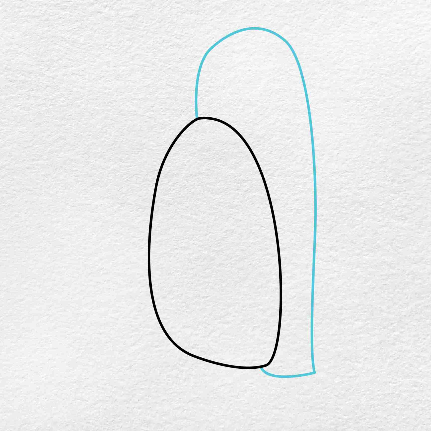 How To Draw A Penguin: Step 2