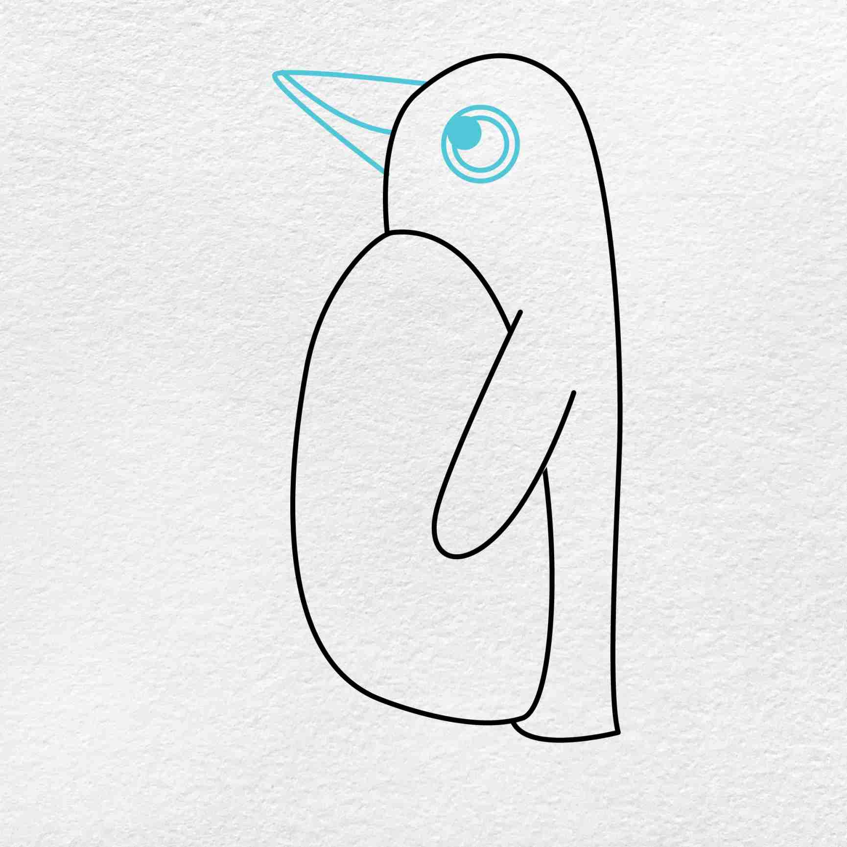 How To Draw A Penguin: Step 4