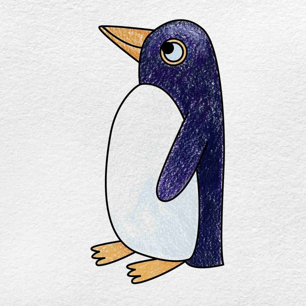 How To Draw A Penguin: Step 6