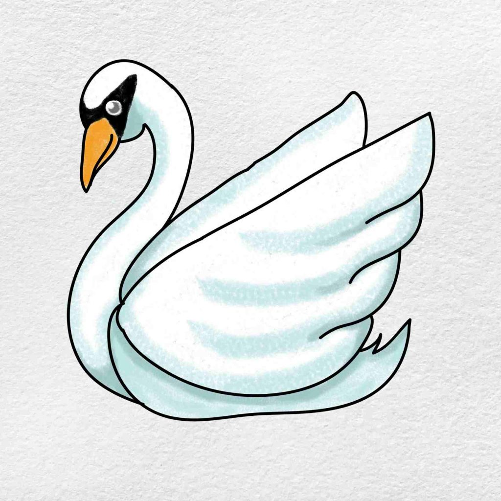 How To Draw A Swan: Step 6