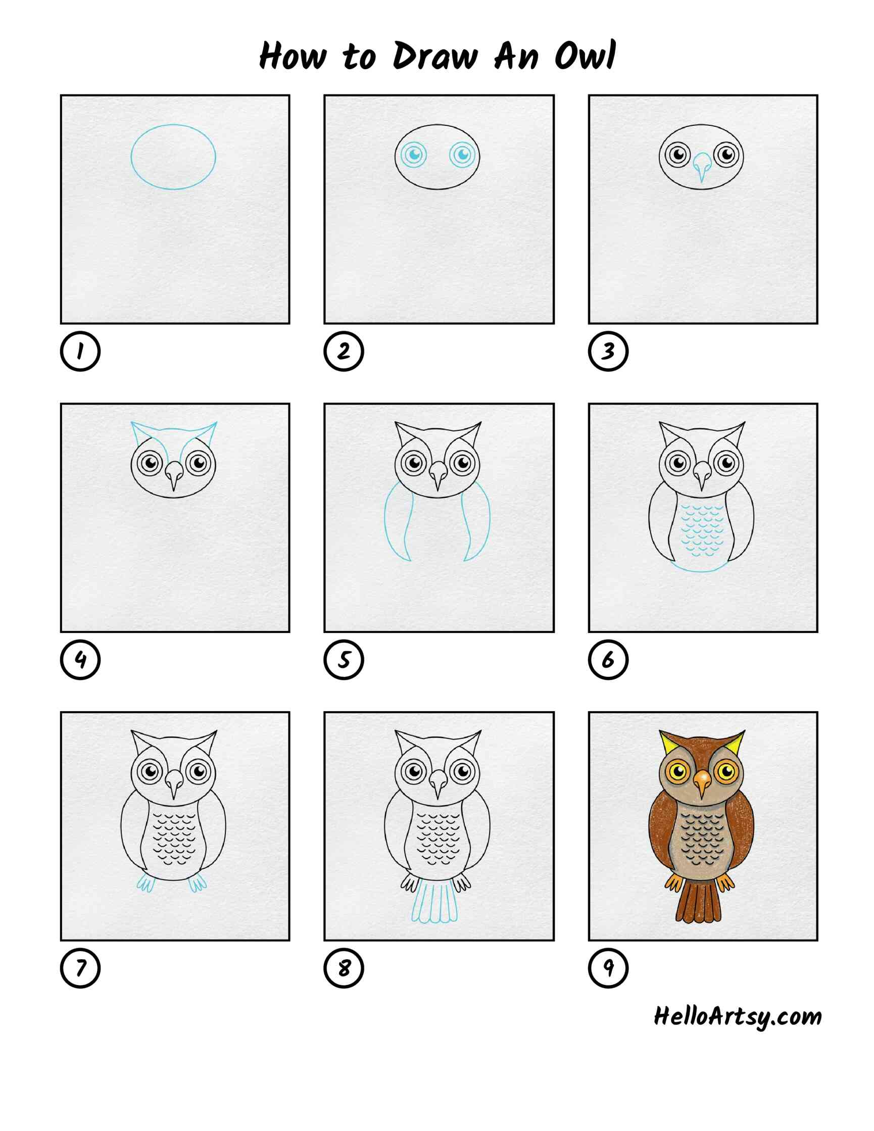 How To Draw An Owl: All Steps