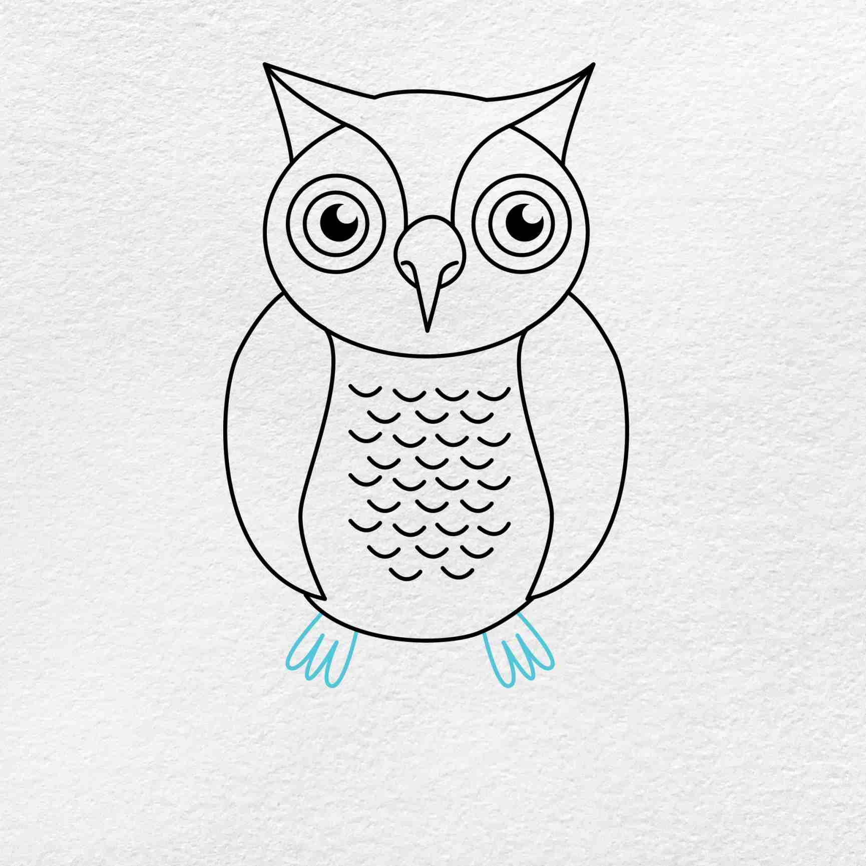 How To Draw An Owl: Step 7
