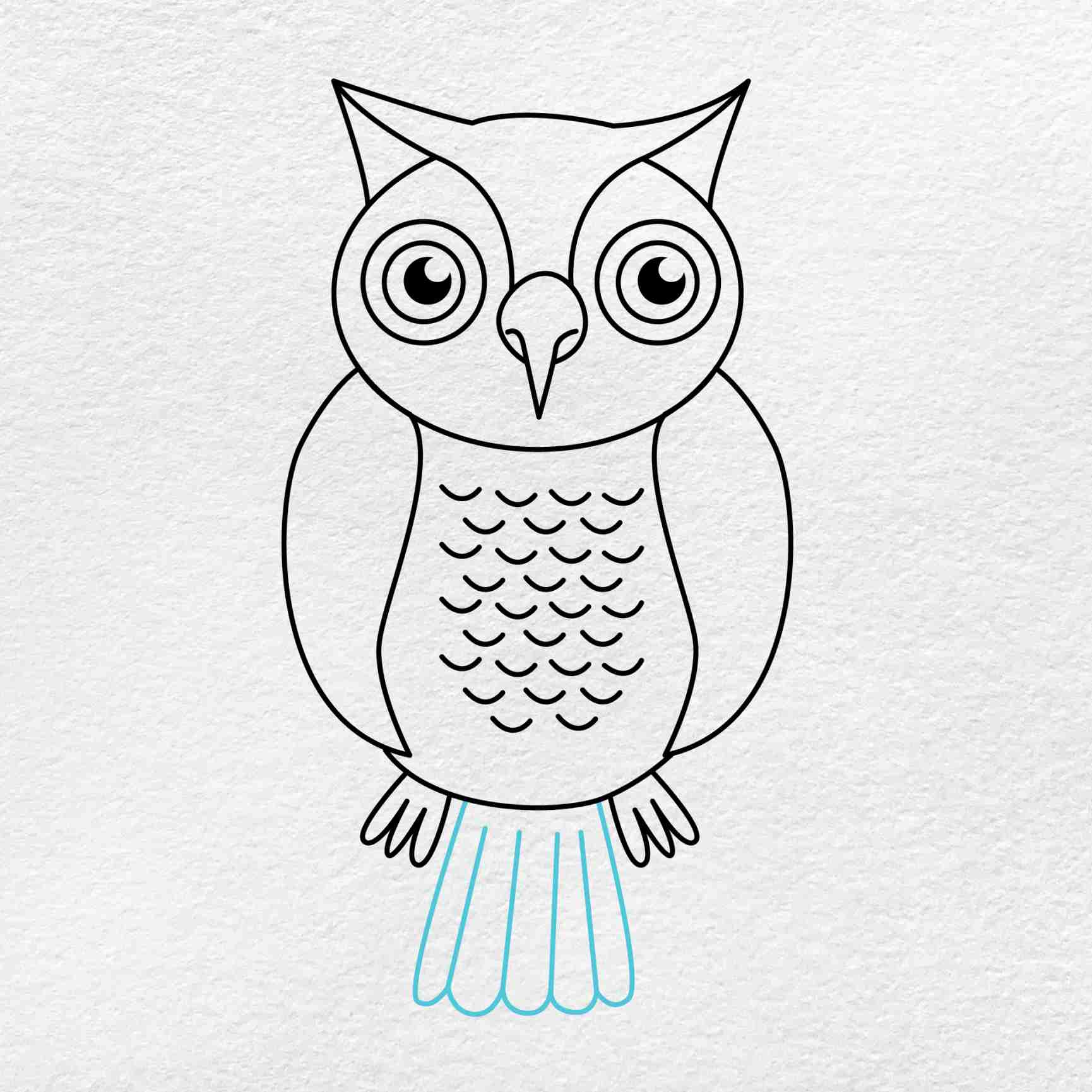 How To Draw An Owl: Step 8