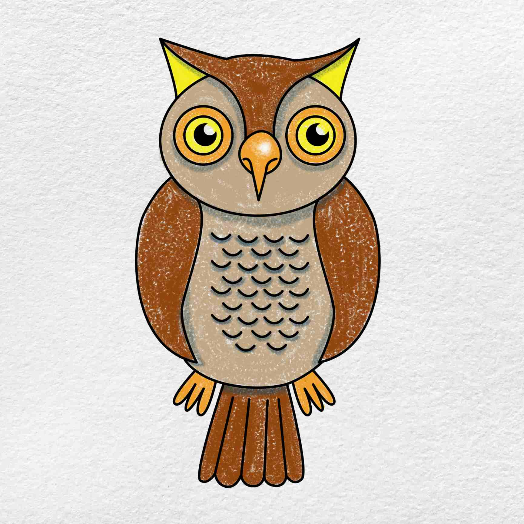 How To Draw An Owl: Step 9