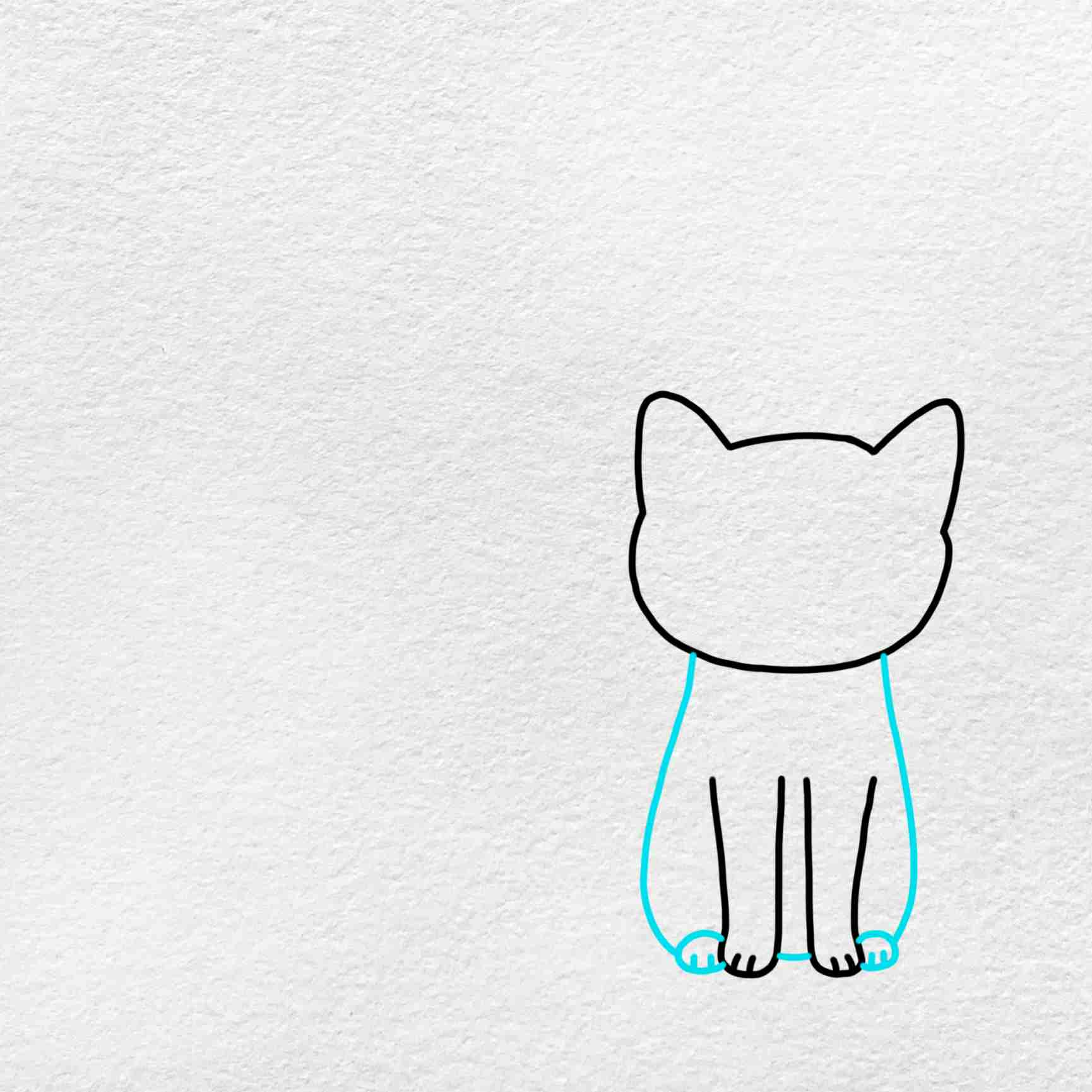 Cat And Dog Drawing: Step 3