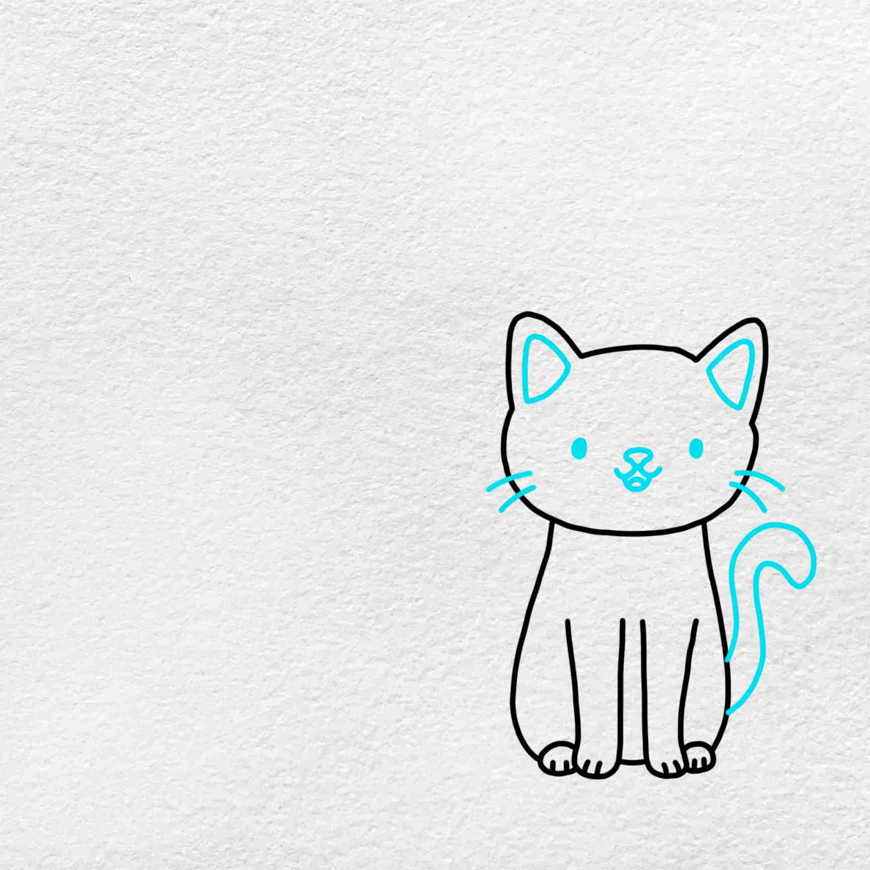 Cat And Dog Drawing: Step 4
