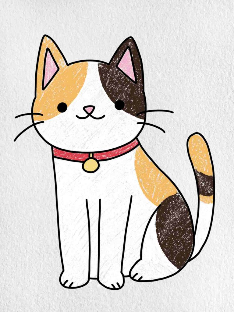Cat Drawing For Kids: Step 6
