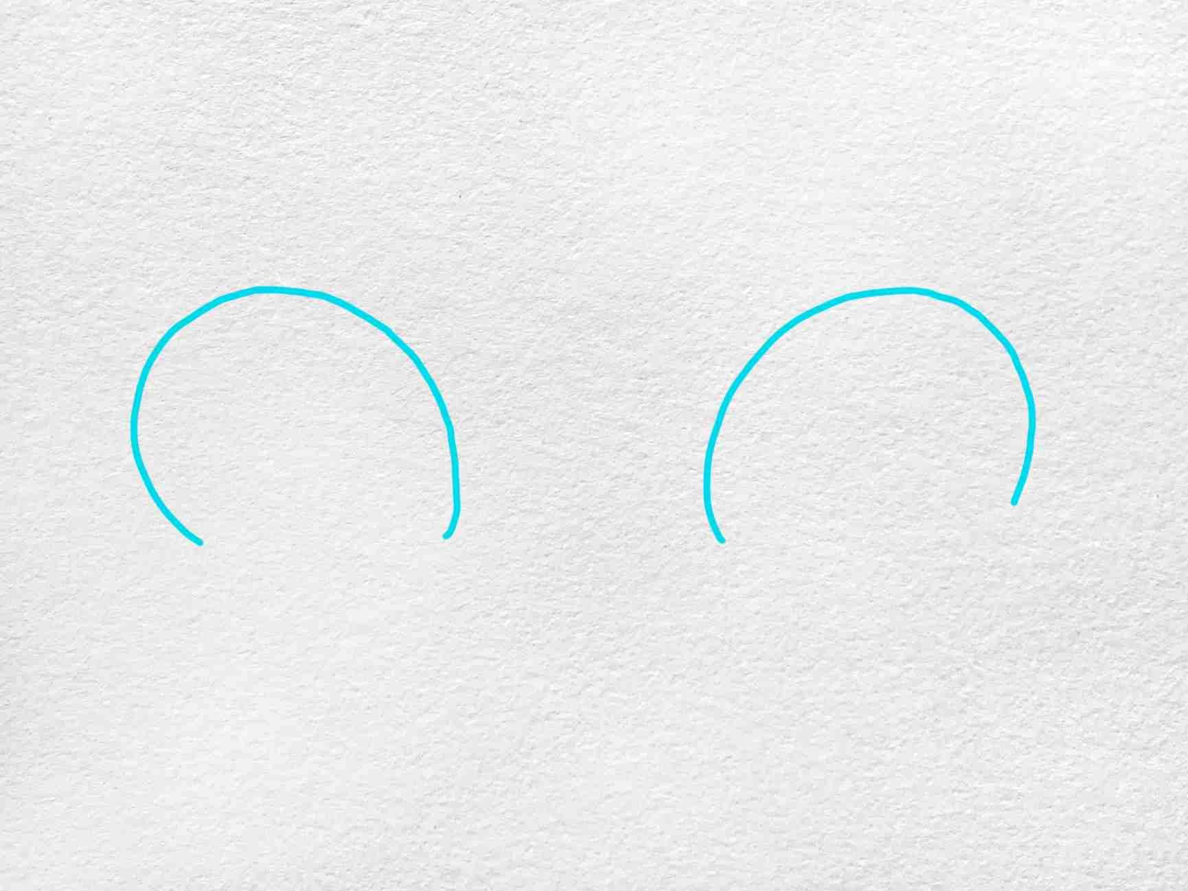 Cat Eyes Drawing: Step 1