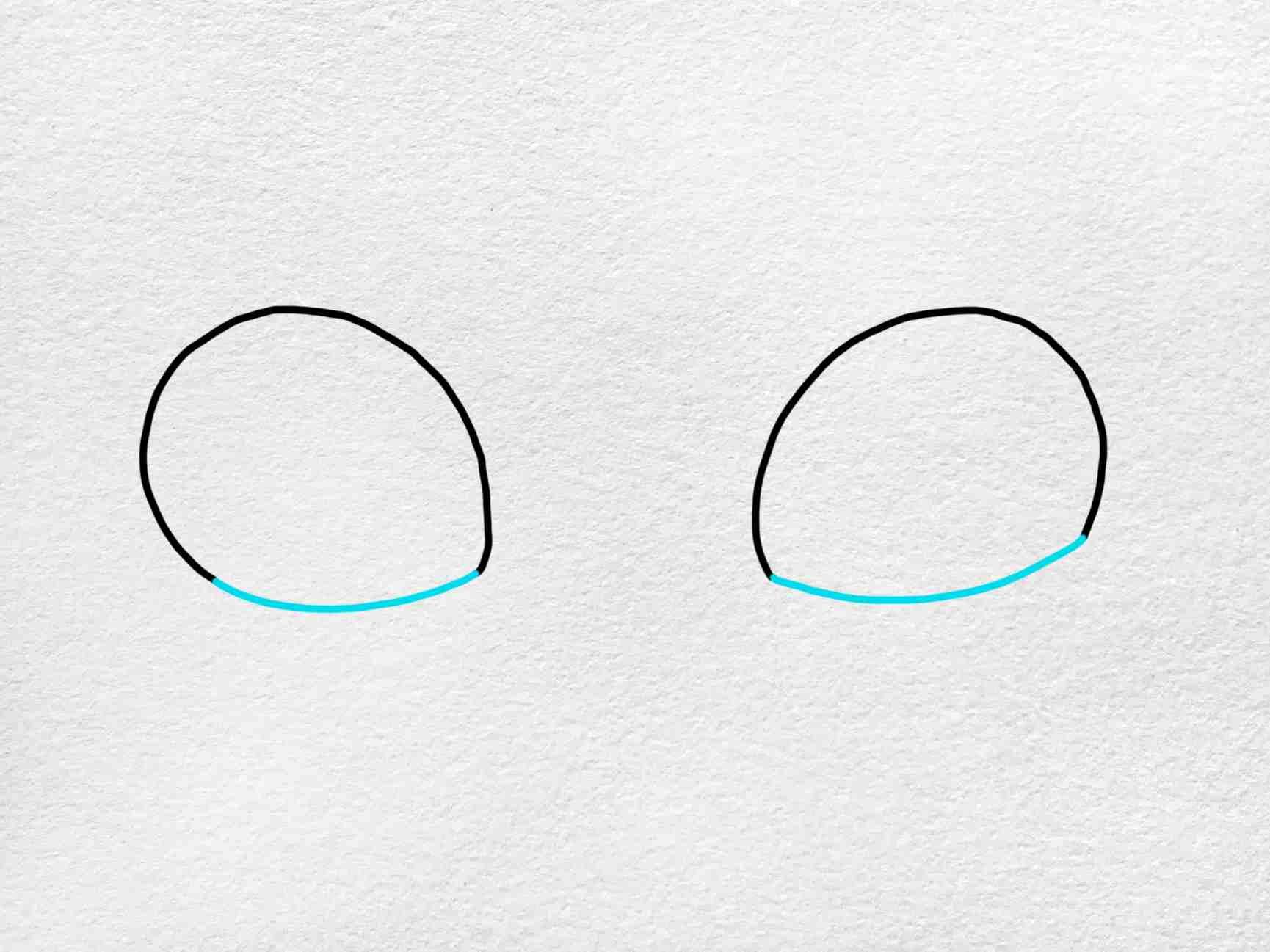 Cat Eyes Drawing: Step 2