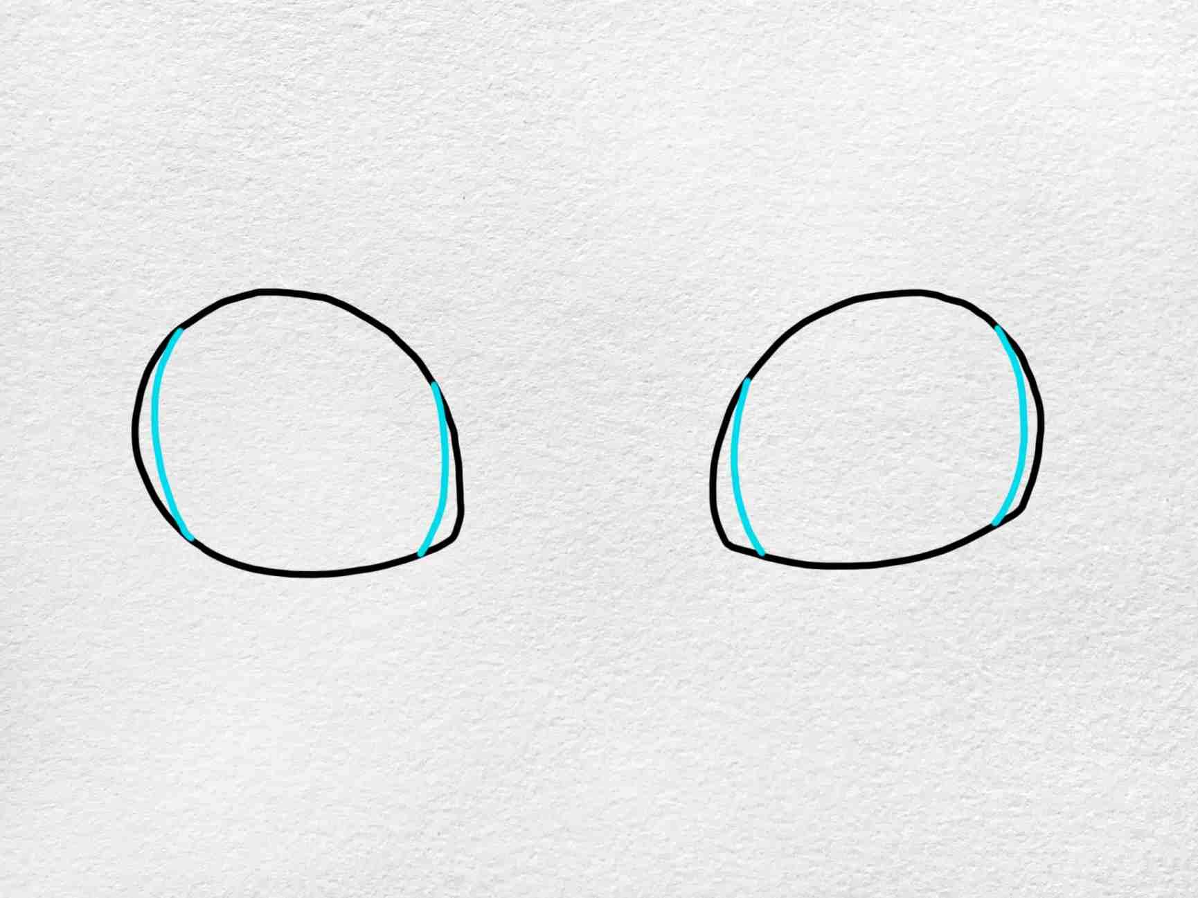 Cat Eyes Drawing: Step 3