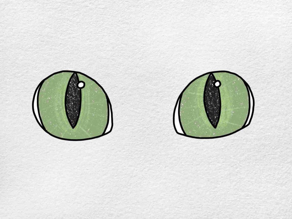 Cat Eyes Drawing: Step 6